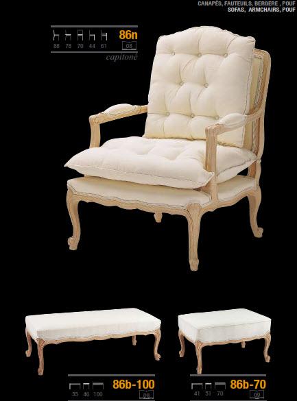 silla estilo clasico con capitoné