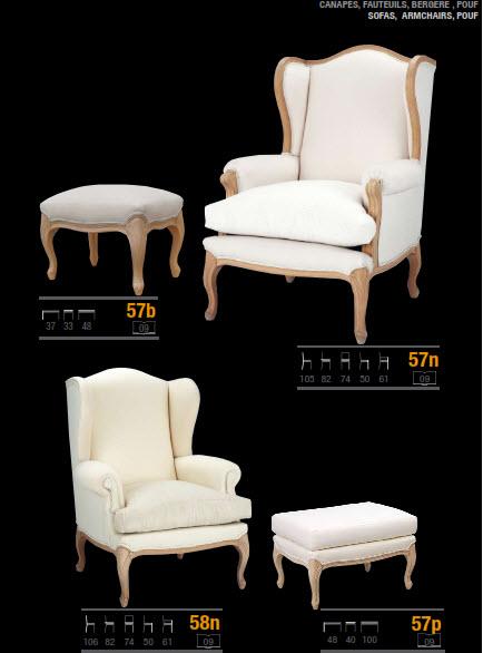 sillón orejero estilo clasico con capitoné